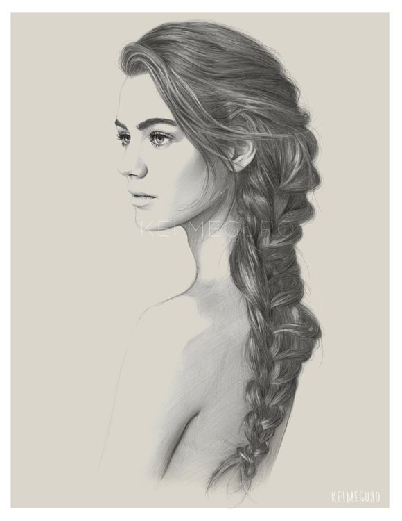 Finishing Tuesday Evening With This Long Overdue Drawing Maybe One Day Ill Have Mermaid Hair A Girl Can DreamOriginal Photo Credit Esther Heesch For