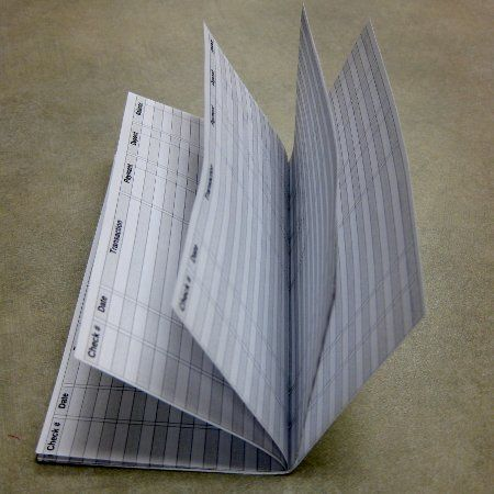 Side View Of Checkbook Register  Oooo I Need That