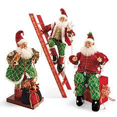 set of three animated elves animated christmas decorationsholiday - Animated Christmas Elves Decorations