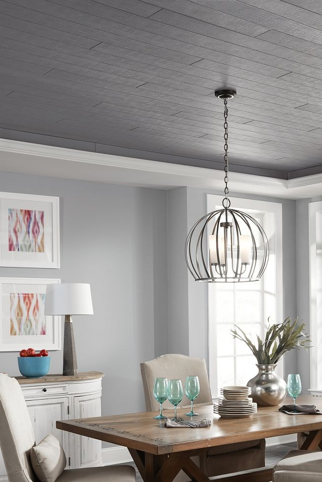 Charcoal Grey Dining Room Dining Room Ceiling Colored Ceiling Grey Dining Room