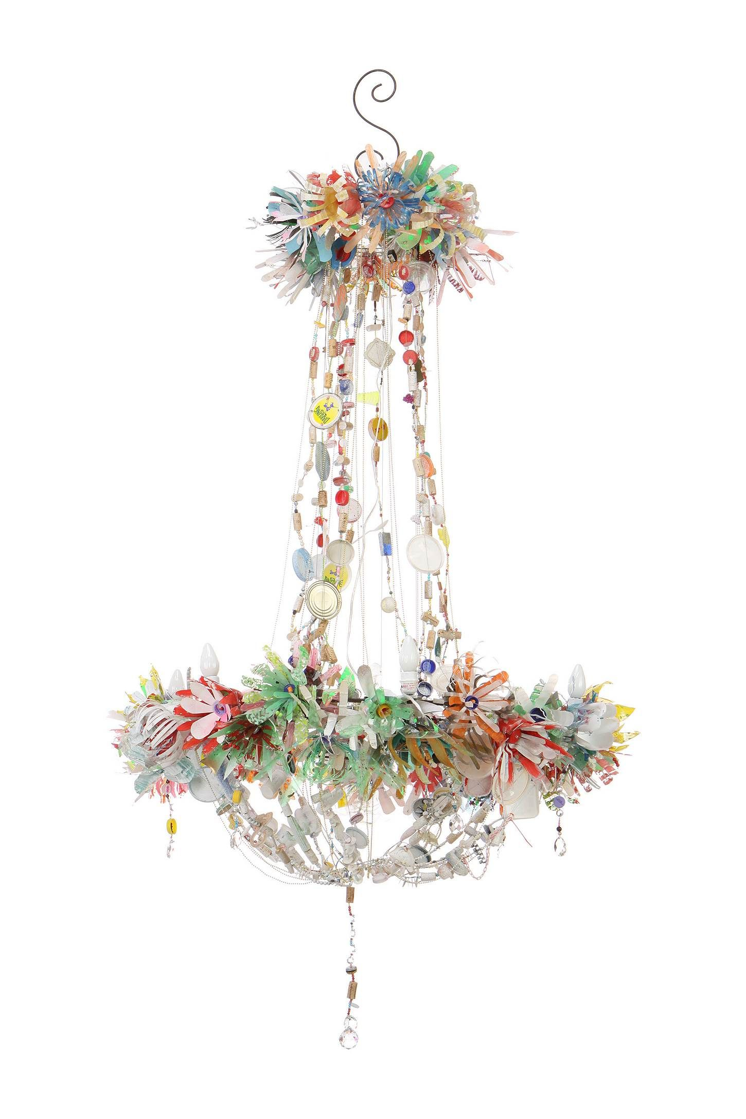 Anthropologie Magpie Chandelier Of Tin Cans