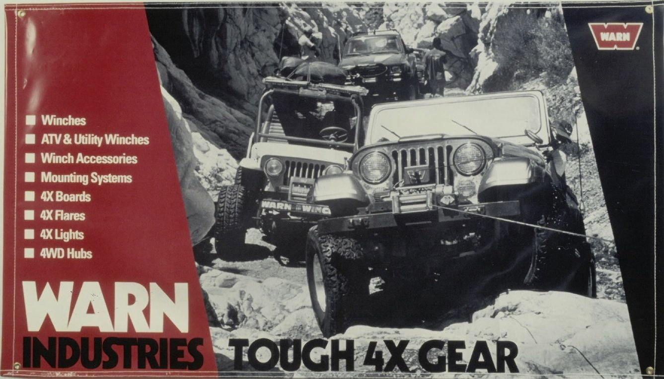 flashbackfriday who has this 1994 warn banner in their garage warn goprepared jeep. Black Bedroom Furniture Sets. Home Design Ideas