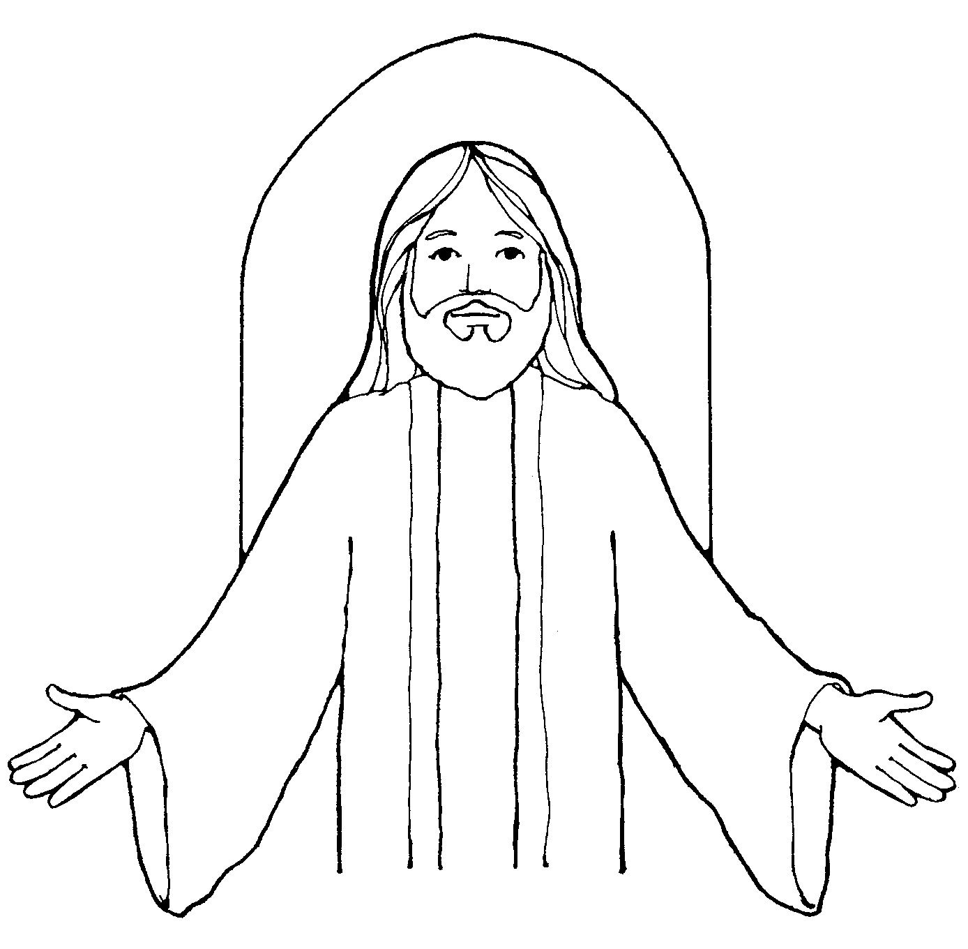 free lds clipart to color for primary children | This black and ...