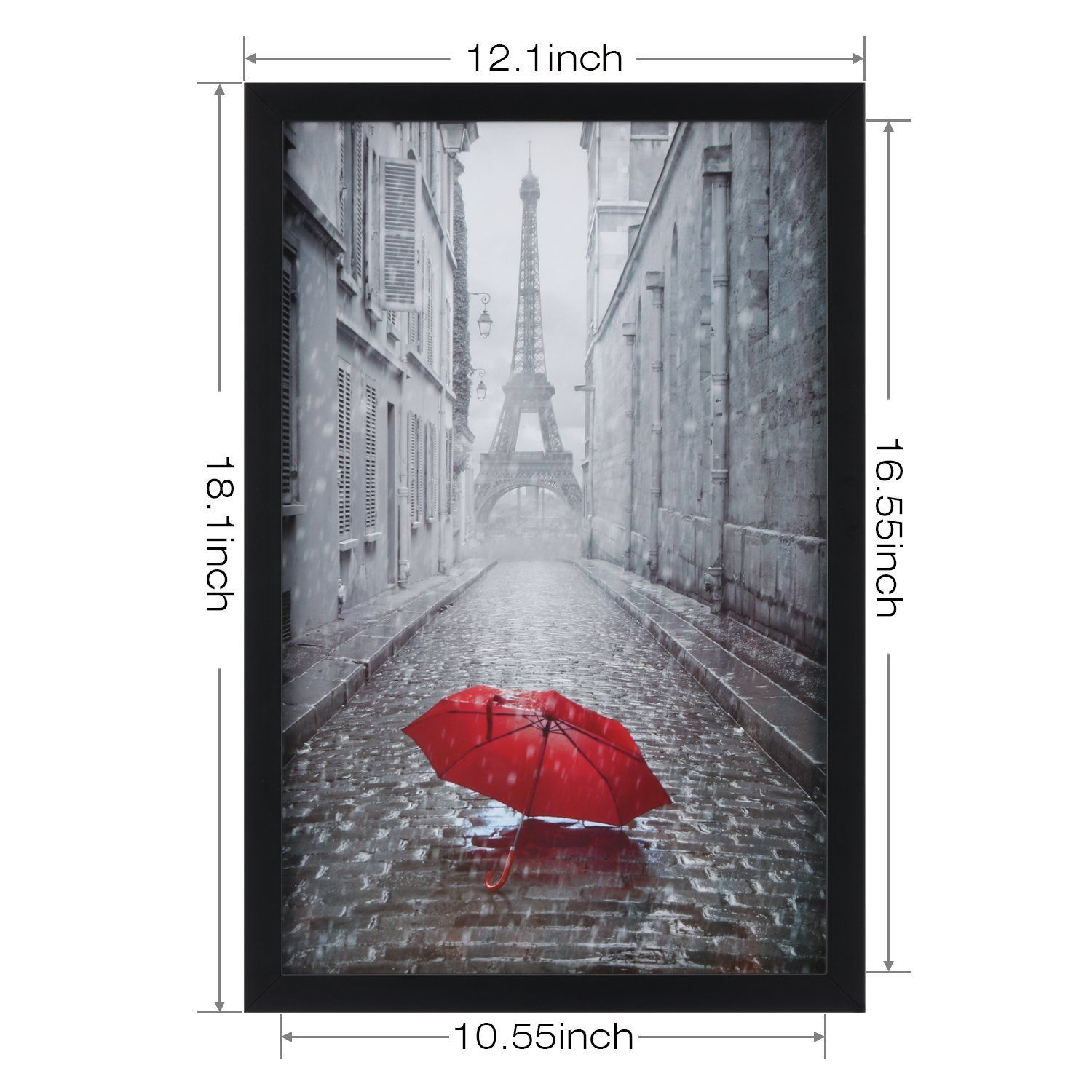 One Wall 11x17 Black Picture Frame Tempered Glass Wood Photo Poster Frame Wall Mounting Material Included Af Picture Frame Wall Frames On Wall Photo On Wood
