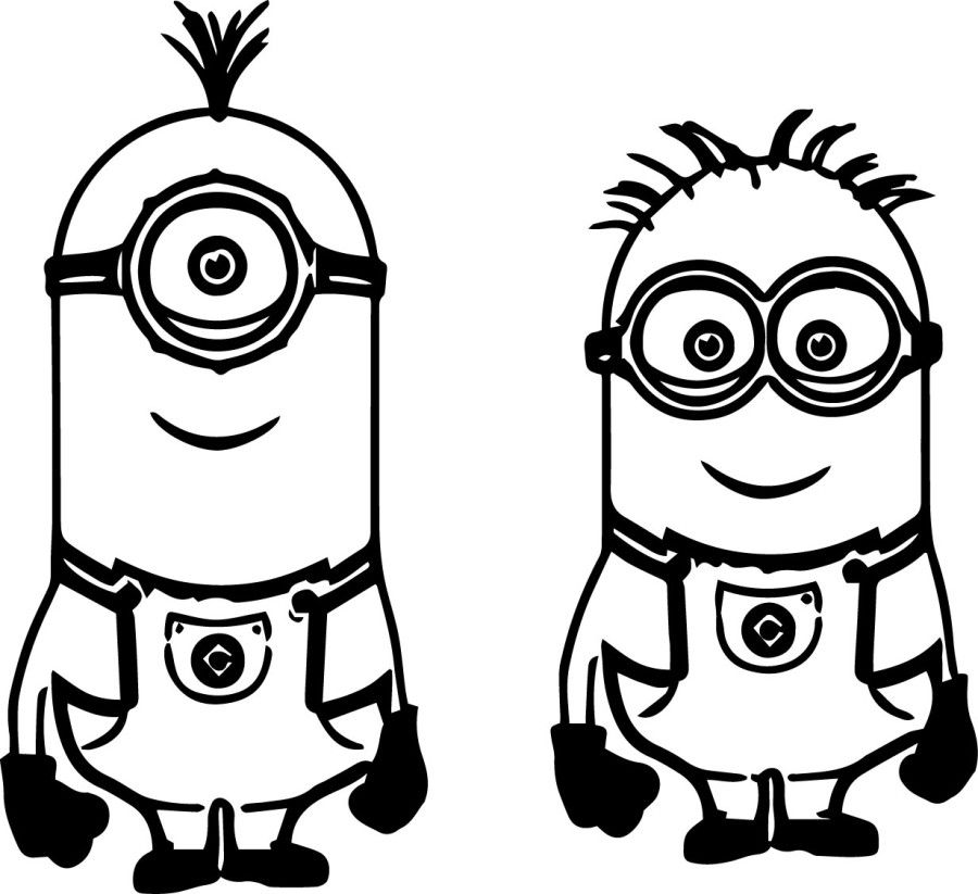 minion rush coloring pages to print   Cute Minion Coloring Pages   the one eyed minion coloring ...