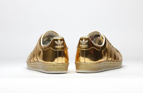 Adidas Superstar 80's or dorée métallique (4)