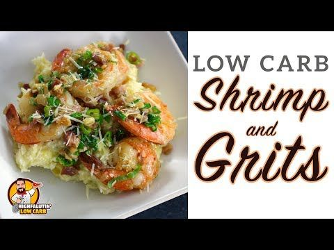 Low Carb Shrimp And Grits Easy Weeknight Keto Recipe Youtube