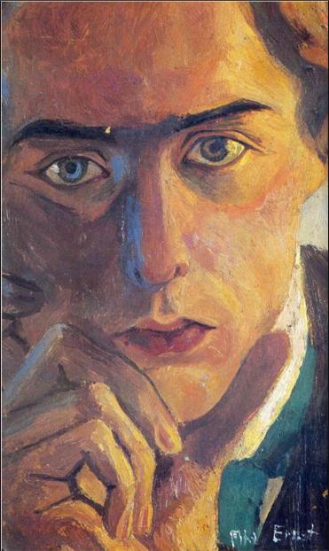 Max Ernst, Self-Portrait, 1909, oil of canvas, 90x60 cm (Private collection)
