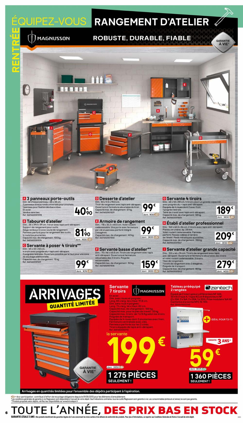 Carport Brico Depot Valable 23 08 2019 05 09 2019 Panneau Porte Outils Armoire Rangement Rangement Atelier