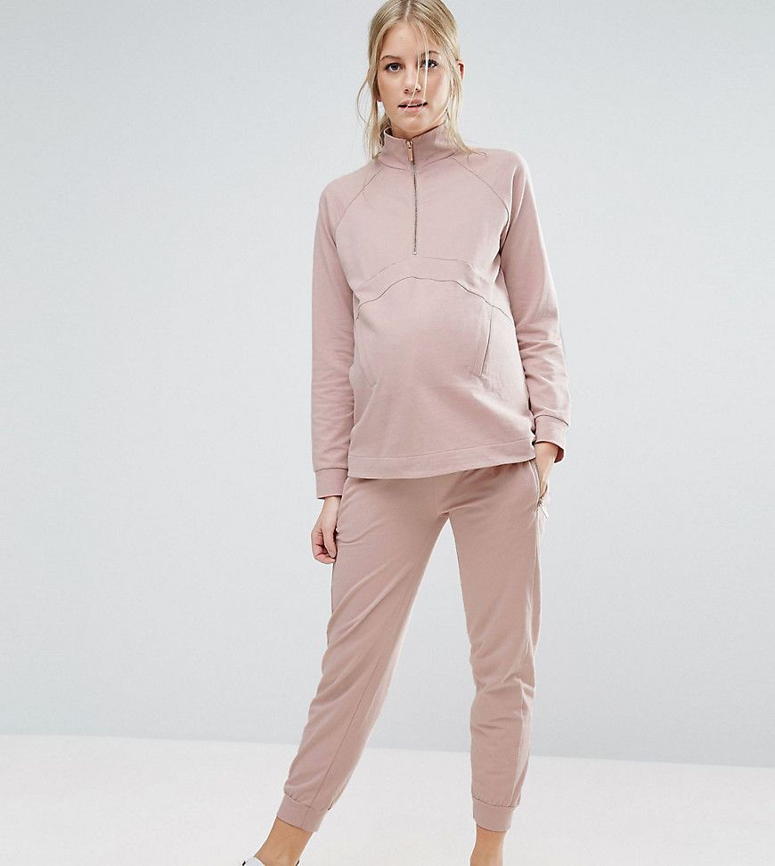Get this Asos Maternity's joggers now! Click for more details. Worldwide shipping. ASOS Maternity LOUNGE Contrast Panel Jogger - Pink: Maternity trousers by ASOS Maternity, Soft-touch sweat, Functional pockets, Fitted cuffs, Relaxed fit, Designed to fit through all stages of pregnancy, Machine wash, 100% Cotton, Our model wears a UK 8/EU 36/US 4 and is 178cm/5'10 tall, Exclusive to ASOS. Maternity dressing gets bumped up to next-level status with the ASOS Maternity edit. Designed by the…