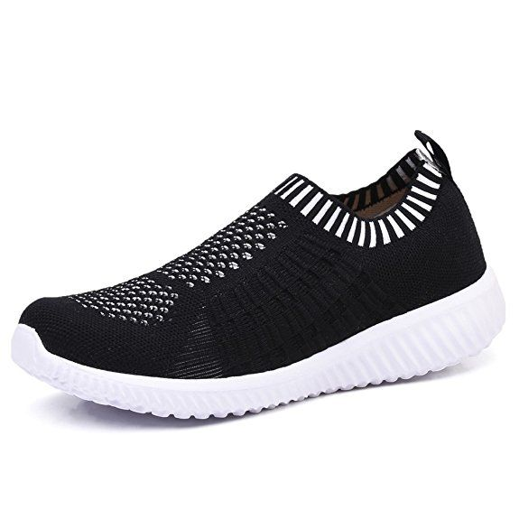 Amazon.com | TIOSEBON Women's Athletic Shoes Casual Mesh Walking Sneakers -  Breathable Running Shoes 1… | Womens athletic shoes, Comfortable sneakers,  Work sneakers