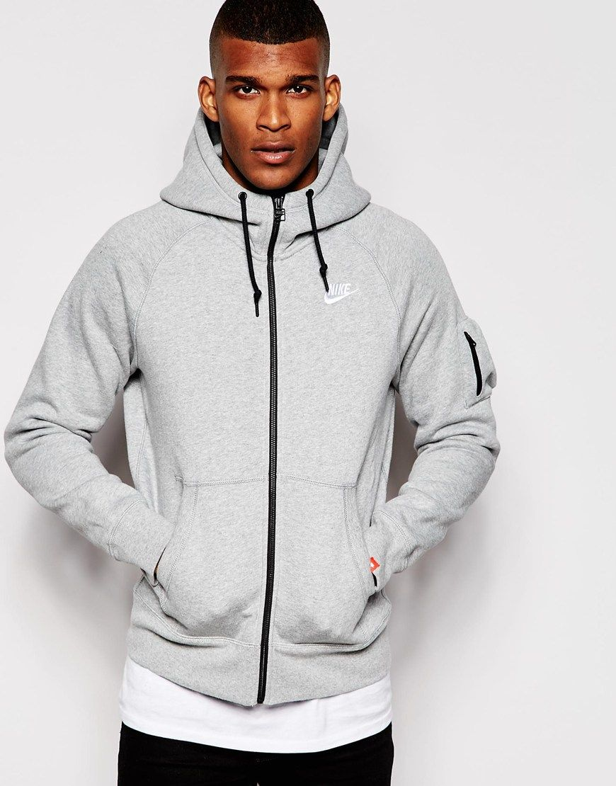 image 1 of nike aw77 hoodie with arm pocket fashion. Black Bedroom Furniture Sets. Home Design Ideas