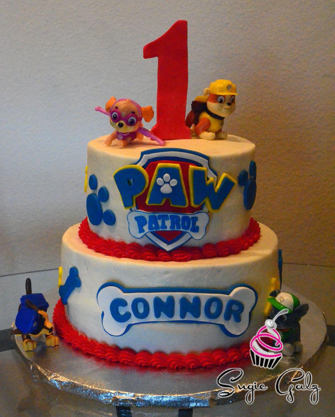 Paw Patrol First Birthday Cake by Sugie Galz in Austin Texas Party