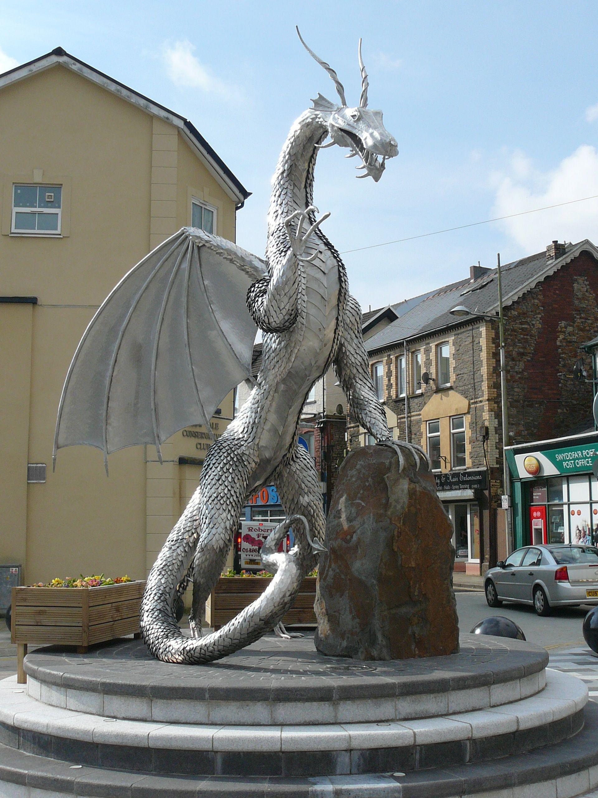 The New Dragon Statue In Ebbw Vale Ebbw Vale