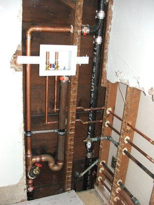 Laundry room rough plumbing, installed by us  | Laundry Room Ideas