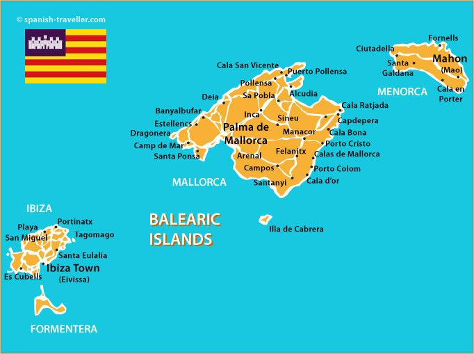 Map of Balearic Islands Geography Pinterest Balearic islands