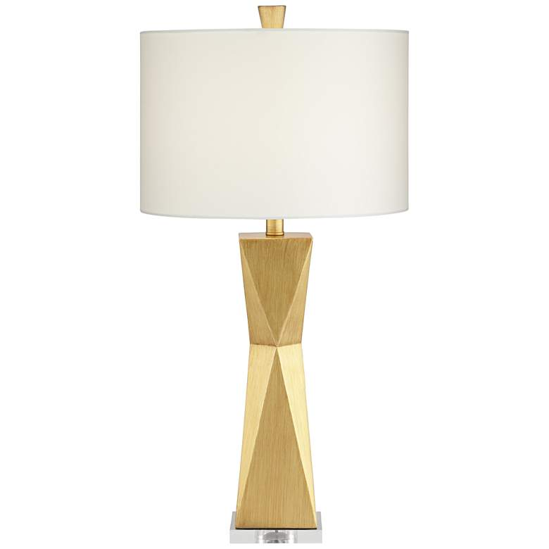 Kalso Brushed Gold Quadrangle Table Lamps Set Of 2 68r13 Lamps Plus Lamp Sets Table Lamp Table Lamp Sets
