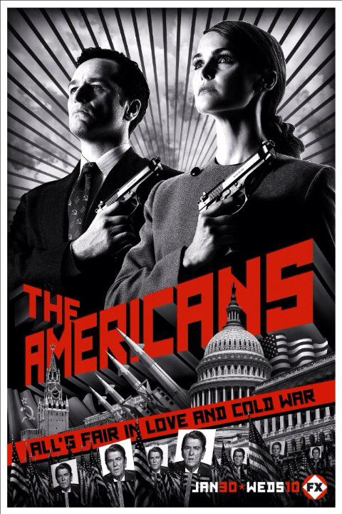 New TV show The Americans about Two Soviet intelligence agents who pose as a married couple to spy on the American government.  Stars: Keri Russell, Matthew Rhys, Holly Taylor, Keidrich Sellati
