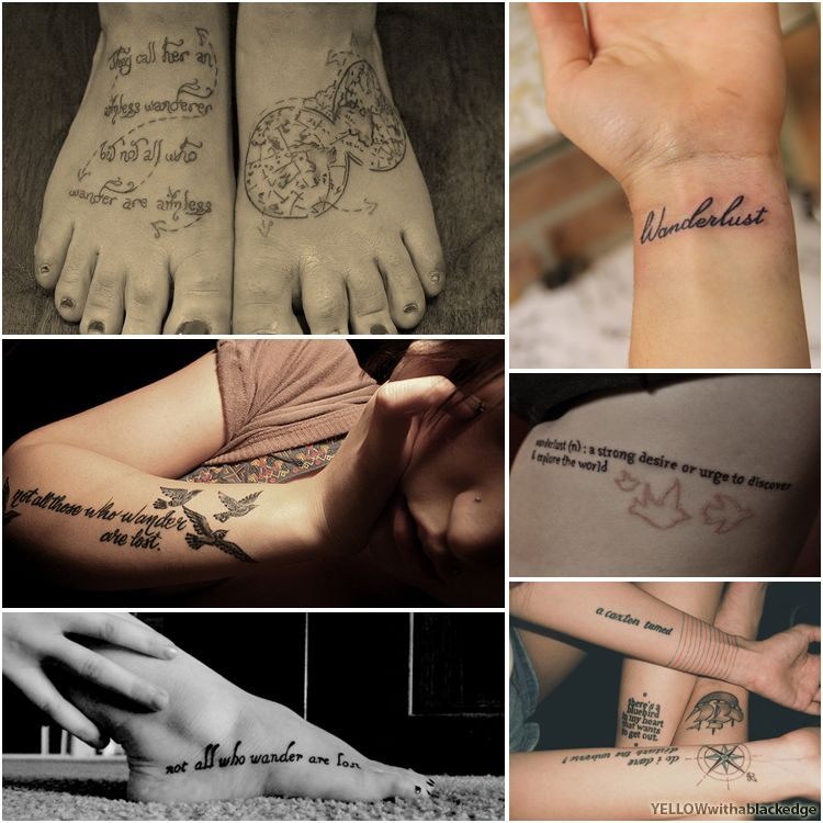 Tattoo Quotes Travel: A Nice Quote Tattoo For Travellers. #travel #tattoo