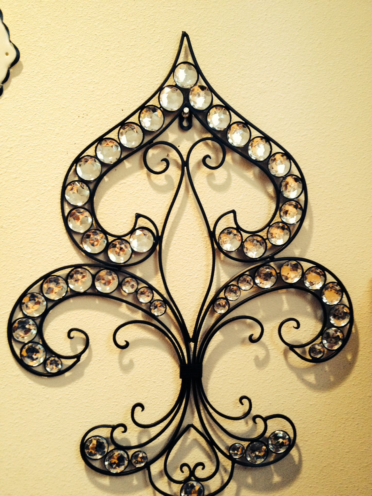 Fleur de lis wall decor Art deco Black & white Sophisticated | Decor ...