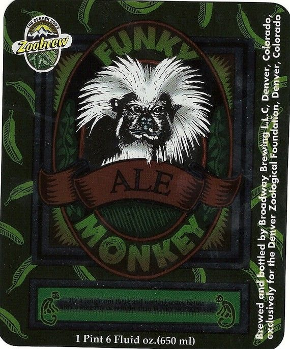 Funky Monkey Ale Label by thecollectiblechest on Etsy