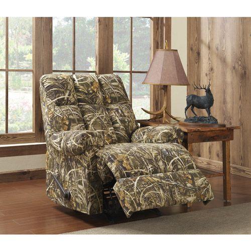 Dorel Living Realtree Camouflage Rocker Recliner Walmart Com