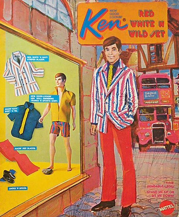 Ken Set, 1970. Even Ken knows how to rock the Red, White and Blue.