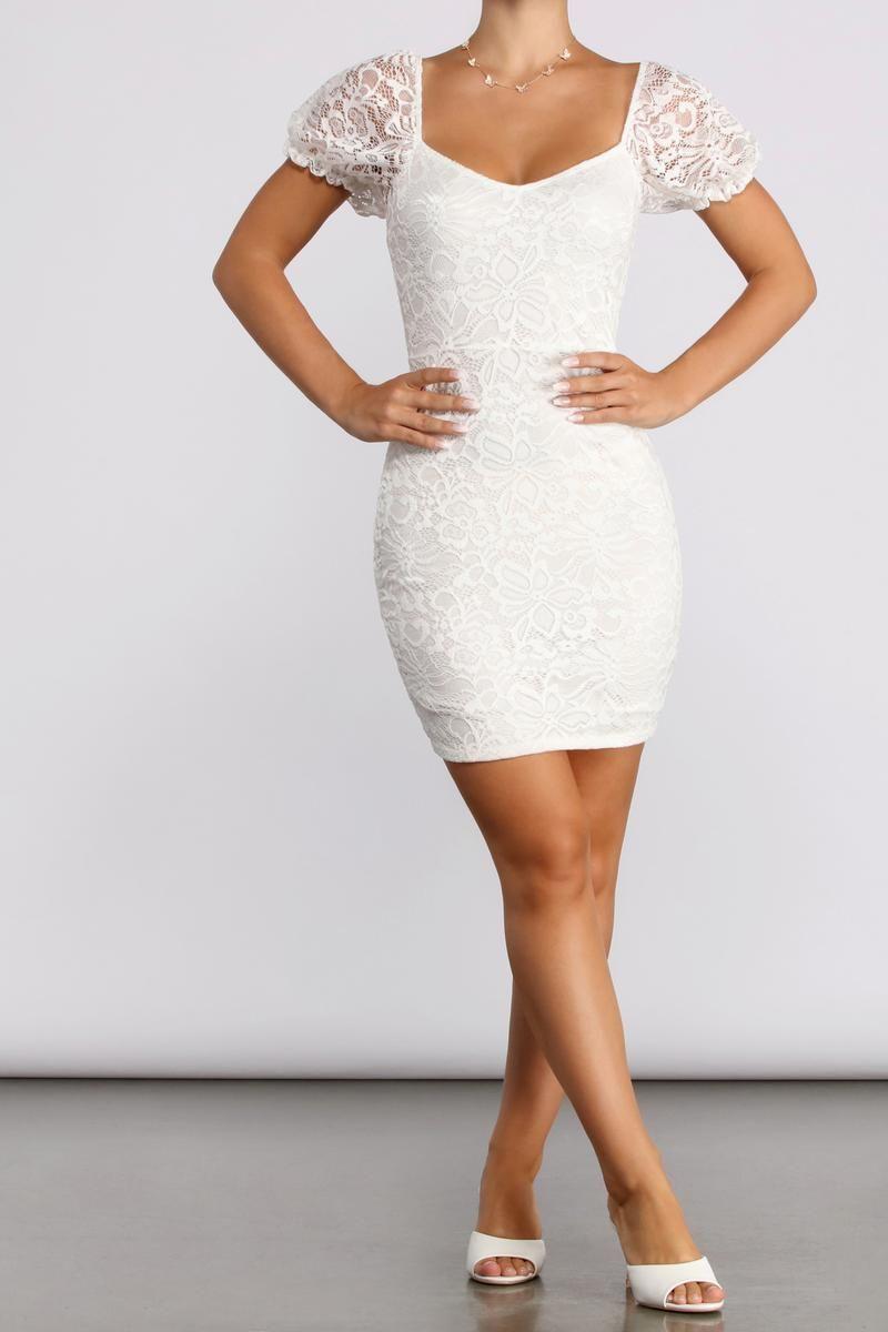 Lovely Lace Mini Dress In 2021 Confirmation Dresses Reception Dress Short Dresses [ 1200 x 800 Pixel ]