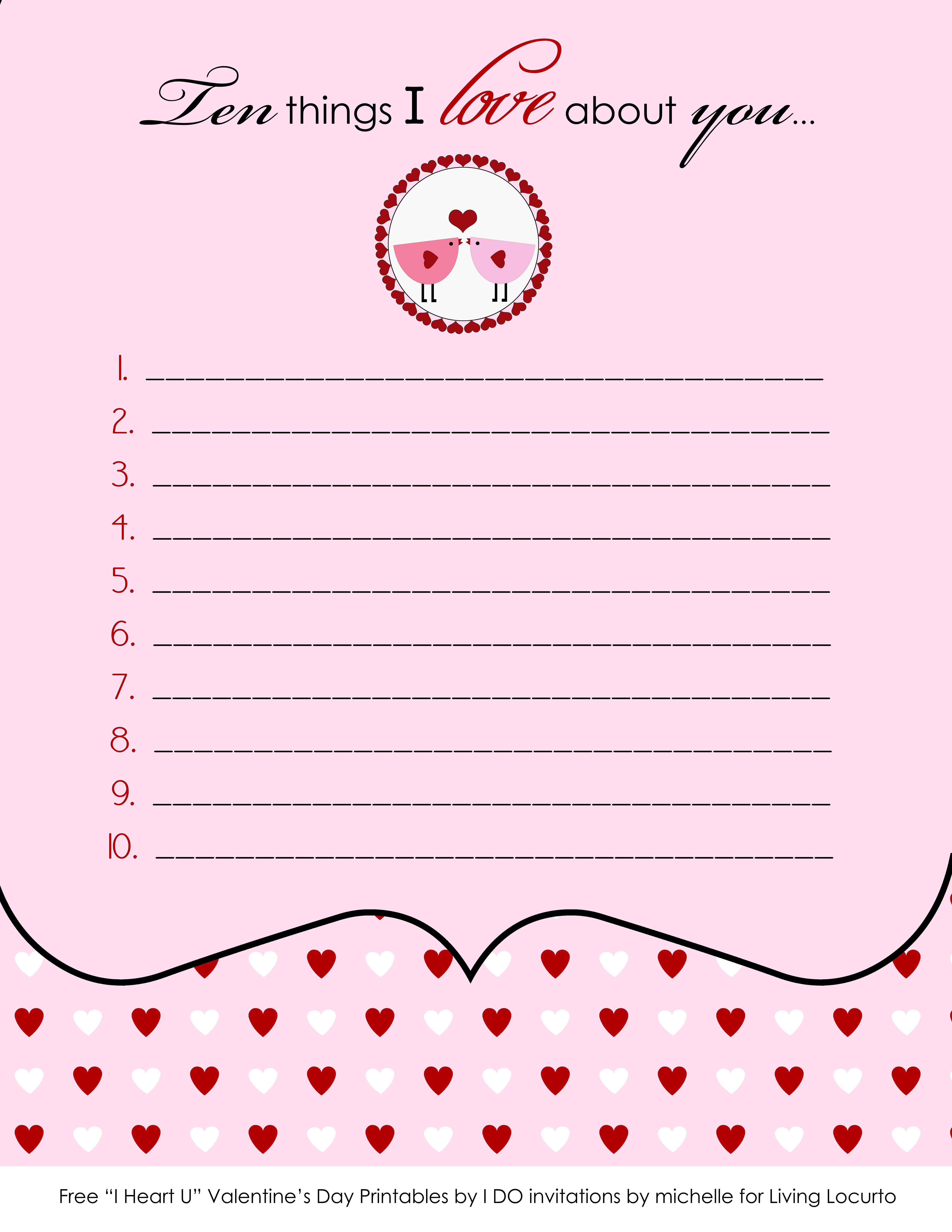 Free Printable Valentine Cards Amp Love Notes