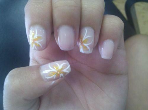 Plumeria Nail Design