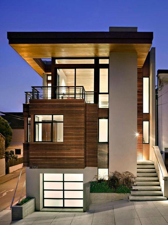 Simple Modern House - (Fachada Compacta) Architecture Pinterest