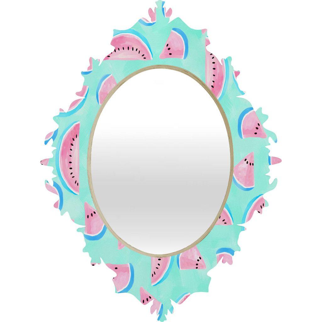 Lisa Argyropoulos Summertime In Aqua Baroque Mirror | DENY Designs Home Accessories
