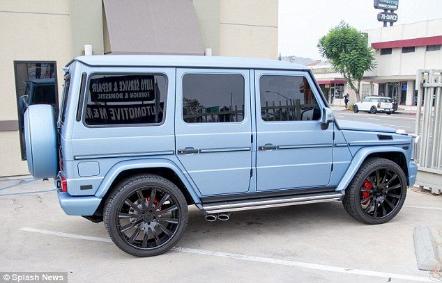 Kylie Jenner Switches Her Mercedes G Wagon From Bright Red To Blue