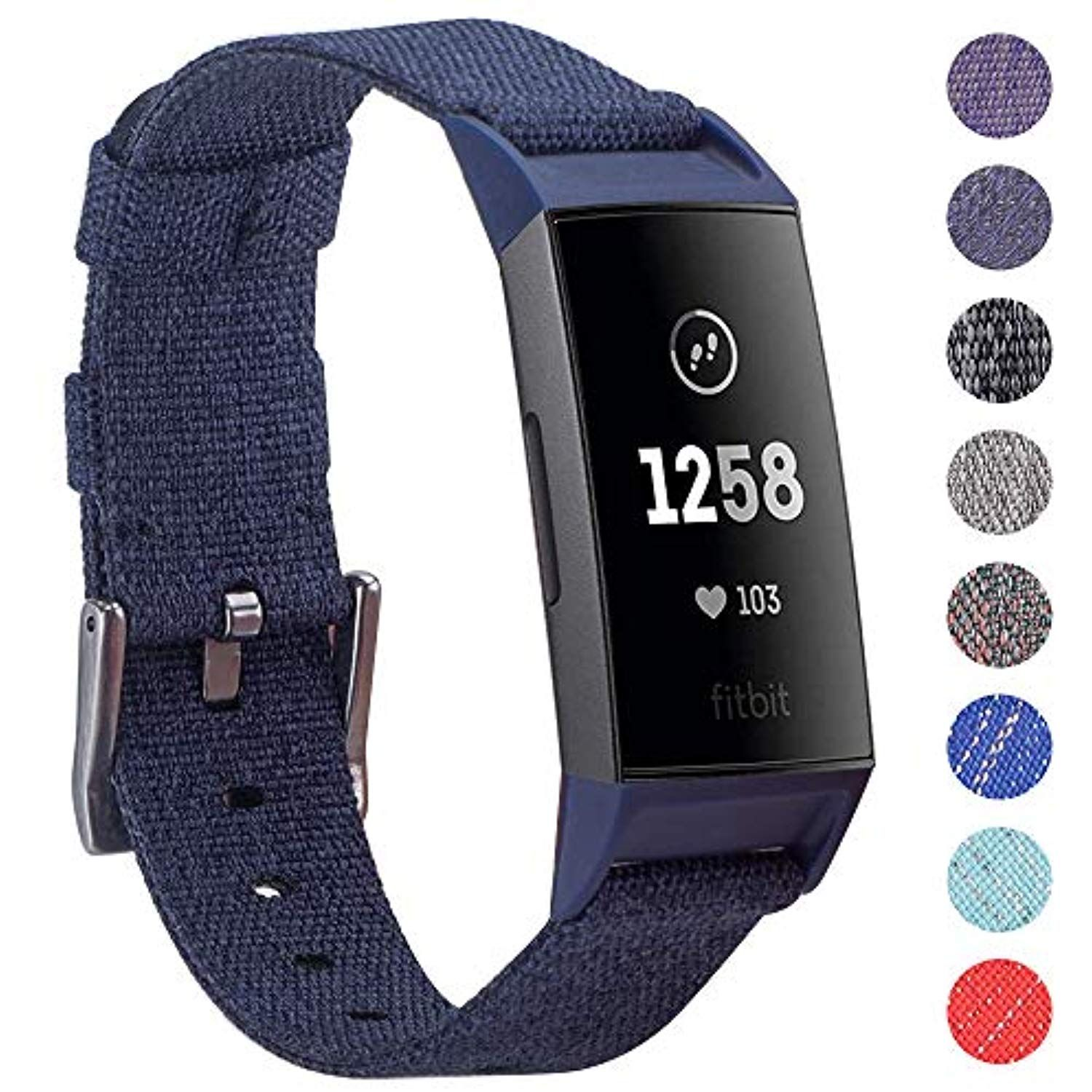 Ezco Compatible Fitbit Charge 3 Bands Woven Fabric Breathable