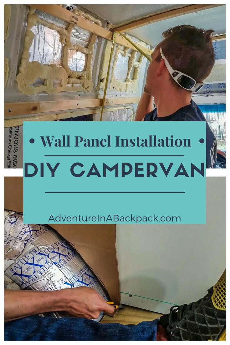 Installing Walls in our DIY Campervan | DIY Camper Van Conversions ...