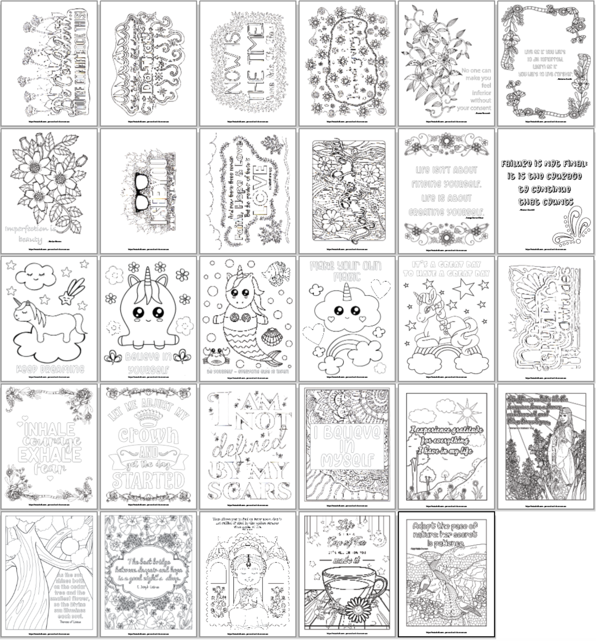 21 Free Inspirational Coloring Pages For When You Re Having A Tough Day Inspirational Quotes Coloring Quote Coloring Pages Coloring Pages [ 2203 x 2048 Pixel ]