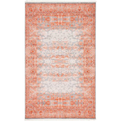 Bungalow Rose Wilton Terracotta Area Rug Size 5 X 8