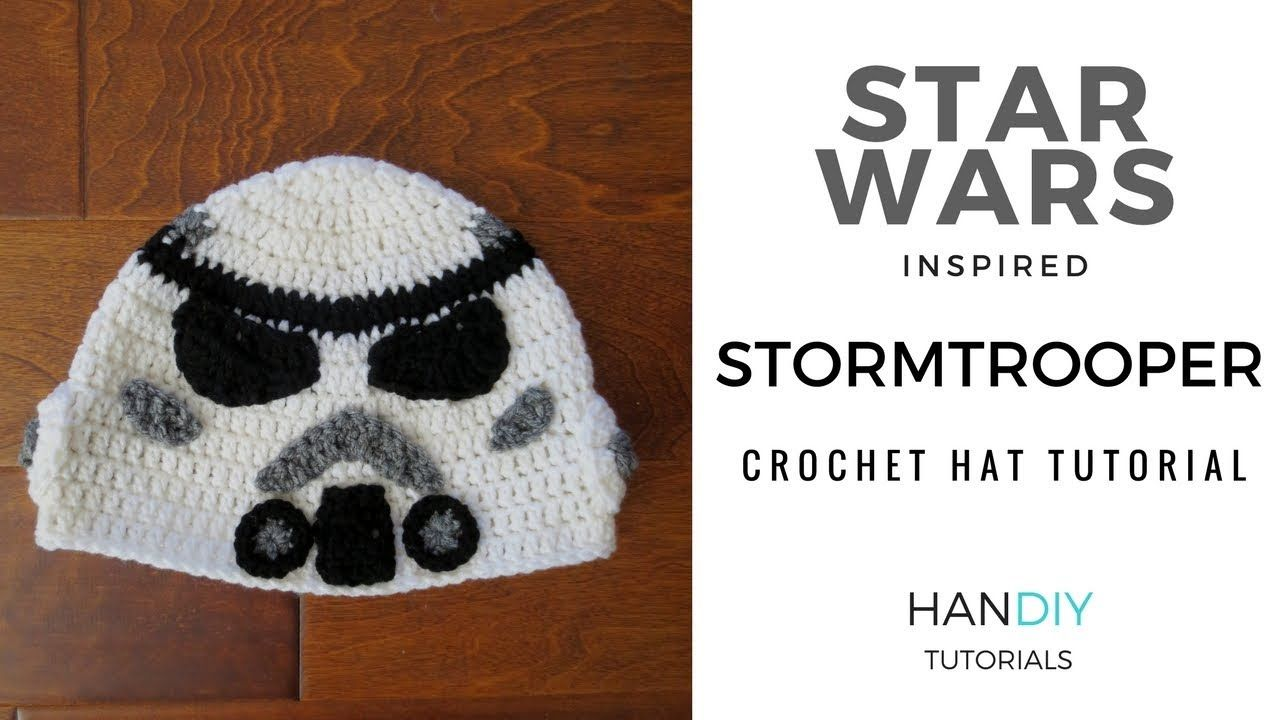 Stormtrooper Crochet Hat Tutorial inspired by Star Wars | crochet ...