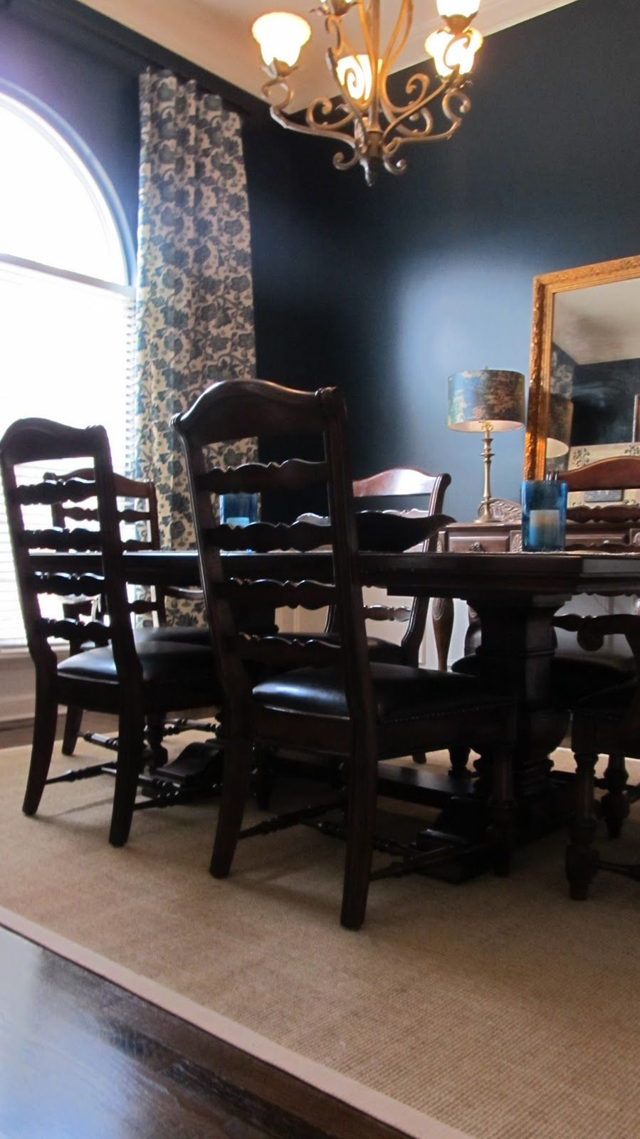 sherwin williams dark night perfect navy dining room