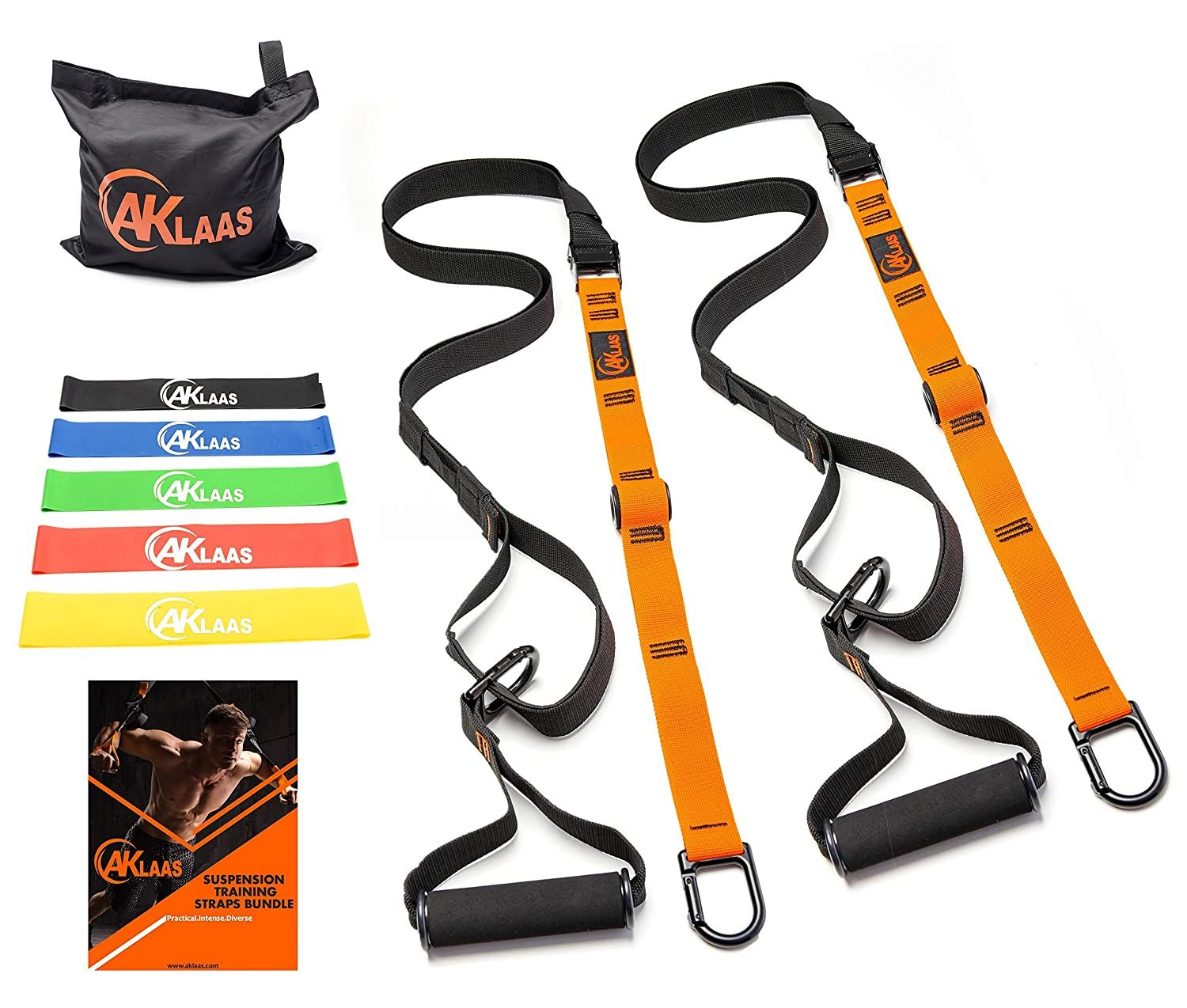 Trainer kit for Full-Body Workout at Home Gym and Outdoors INTEY Bodyweight Fitness Resistance Training Resistance Trainer Straps+Door Anchor+4 Resistance Bands Loops