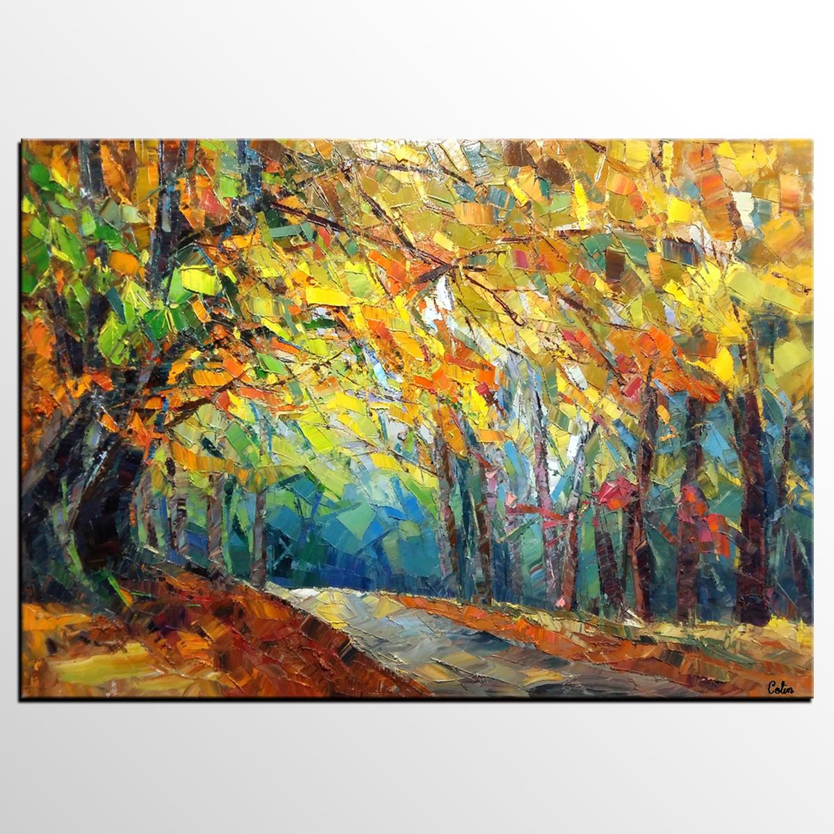 Abstract Art, Autumn Tree Painting, Landscape Painting, Oil Painting ...
