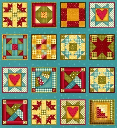 Cotton Quilt Fabric Panel Built Each Other Up Patchwork Cheater ... : quilting fabric sale online - Adamdwight.com