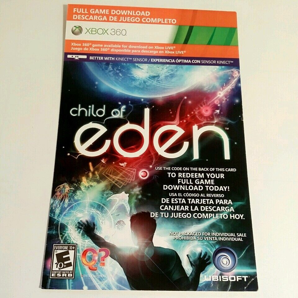 Child Of Eden Xbox 360 Download Code Card Xbox360 Ebay Auction Sale Wholesale Products Xbox Game Children Of Eden Xbox Cards