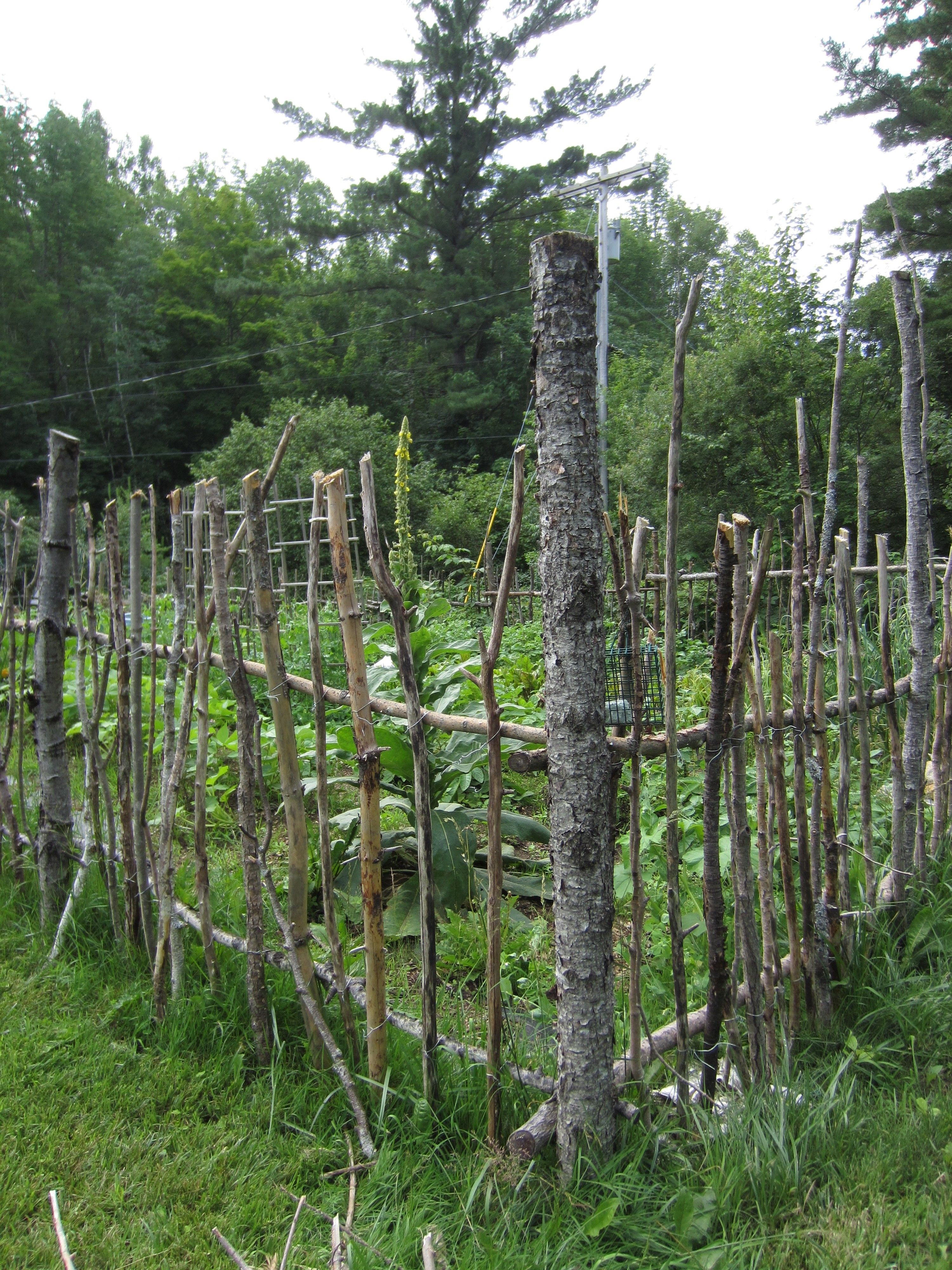 Garden Fresh Garden Fencing Rustic Gardens Garden Design