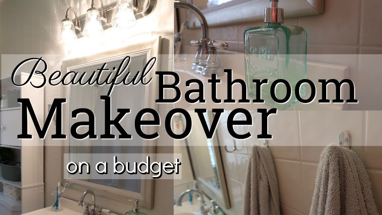 Beautiful Bathroom Makeover On A Budget Collaboration With Vanilla And Canela Youtube Bathroom Makeover