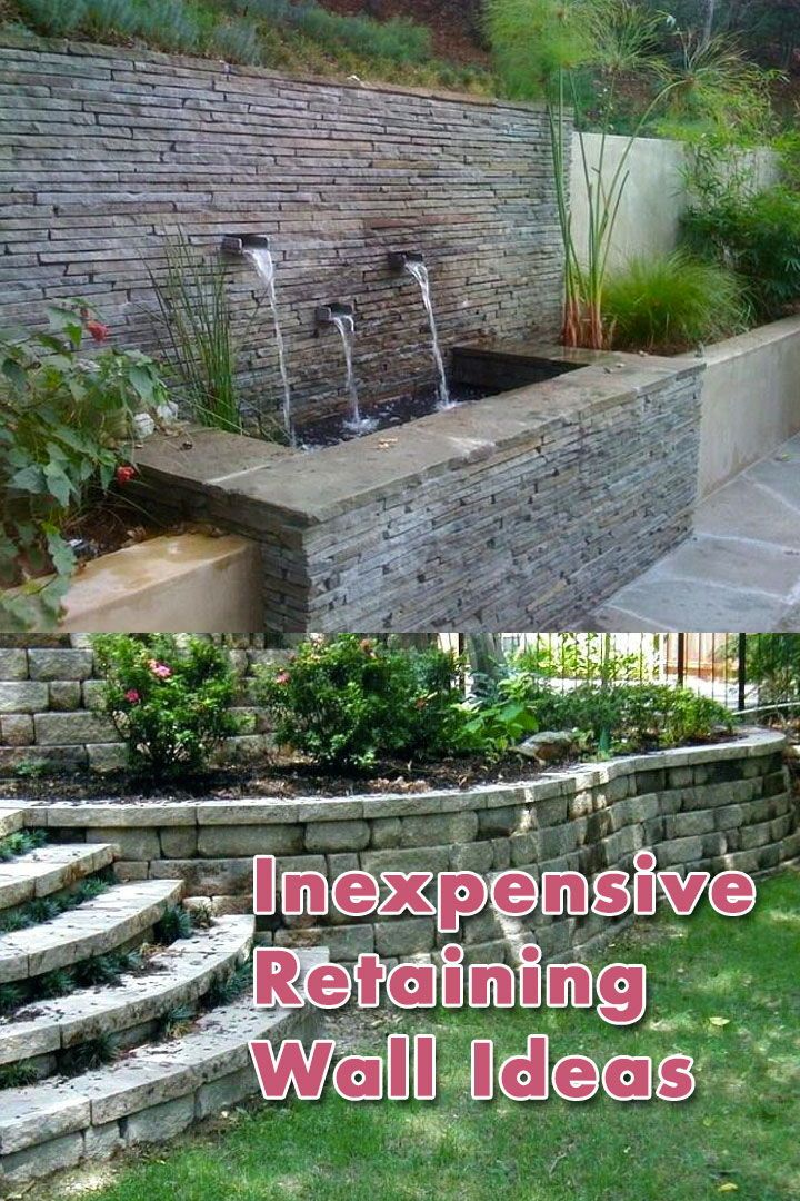 How To Build Inexpensive Retaining Walls Inexpensive Retaining Wall Ideas