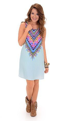 Get to the Point Dress, Light Blue :: NEW ARRIVALS :: The Blue Door Boutique