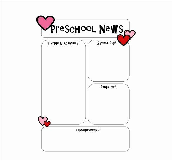 40 Free Newsletter Templates for Preschool in 2020