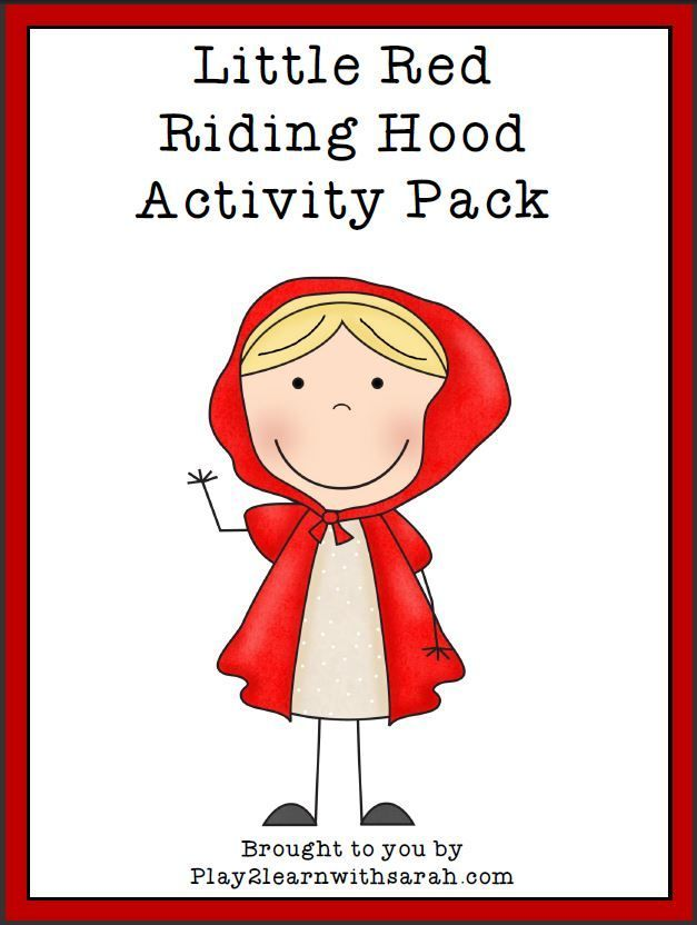Little Red Riding Hood Printable Pack With Images Fairy Tale