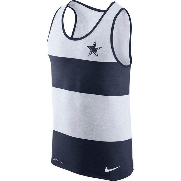b8e3fcd19bc Dallas Cowboys Men's Nike Navy and White Wide Stripe Tank Top – Dallas  Sports Fan Shop